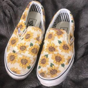 Vans Shoes - Sun flower slip on vans brandy melville Pacsun 72f1f7390